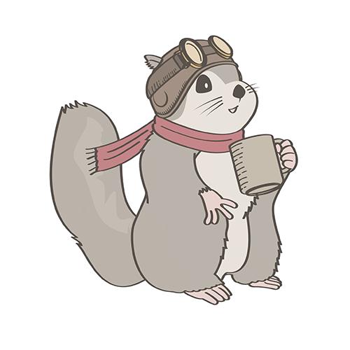 カフェのキャラクターイラスト