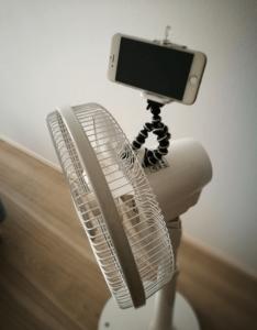 ゴリラポッド扇風機にもくっつく