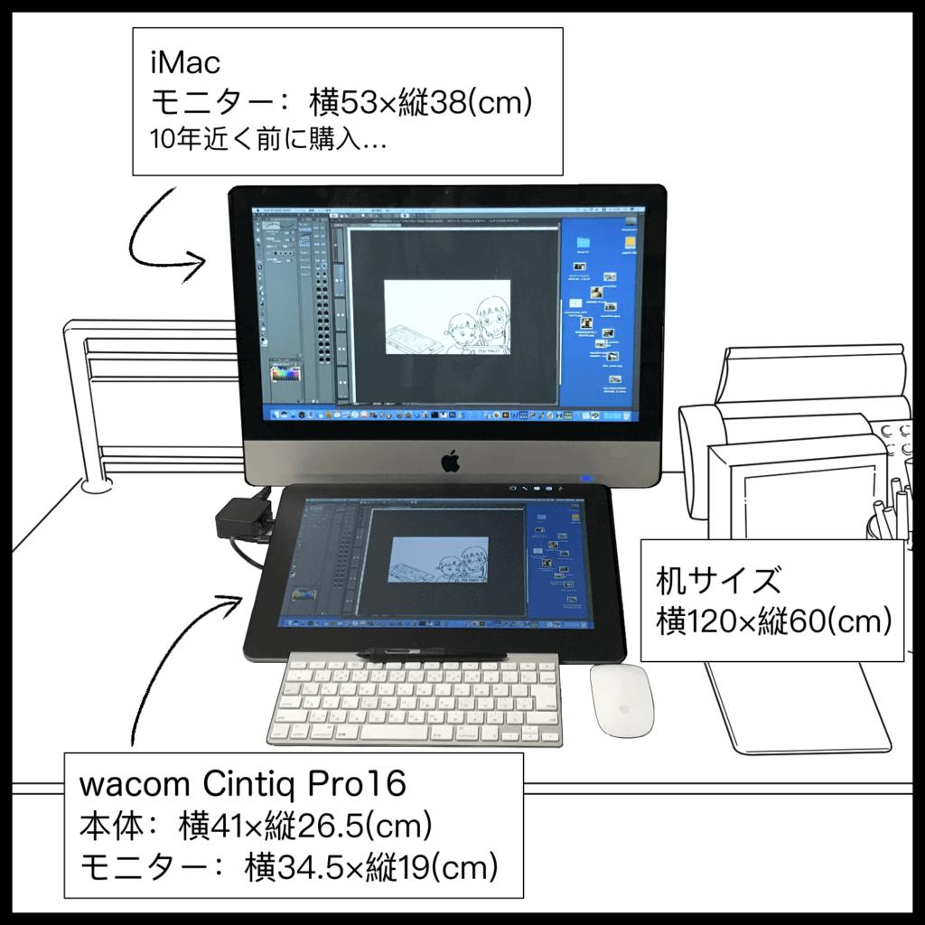 Cintiq Pro16作業風景
