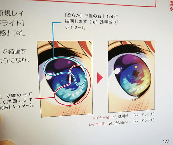 ギャルゲ塗り瞳の塗り方