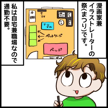 イラストレーター漫画「自宅が職場ですから」1